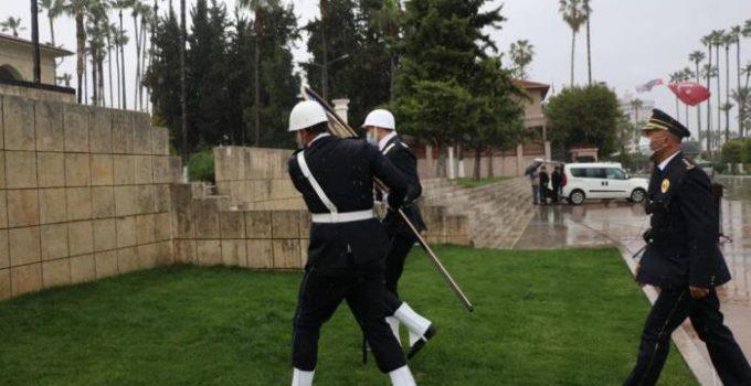 POLİS HAFTASI, YAĞMUR NEDENİ İLE SADE BİR TÖRENLE KUTLANDI