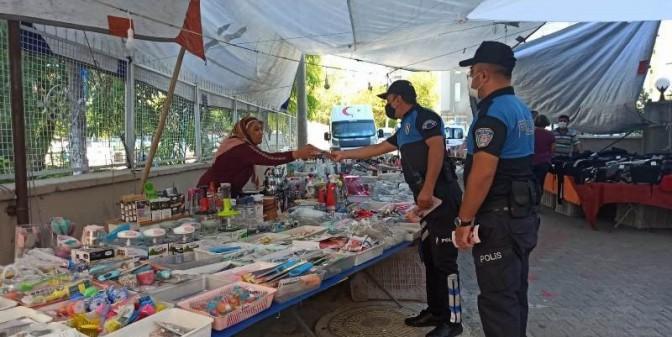 MERSİN POLİSİ, ESNAFI VE VATANDAŞLARI BİLGİLENDİRDİ